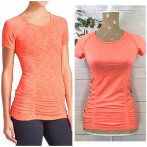 Athleta Fastest Track Neon Orange T- Shirt XS